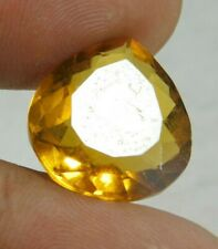 UNTREATED NATURAL 13.60 Cts PEAR CUT  YELLOW SAPPHIRE GEMSTONES RM442