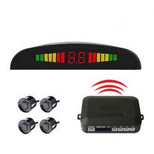 LED Wireless 4 Parking Sensor Radar Monitor Detector System Reversing Radar US