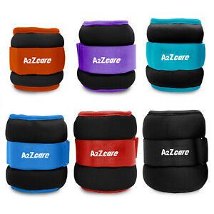 A2ZCare Ankle Weights Fitness, Strength Exercise Training 1-5lbs (Sold as Pair)