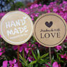 60*Handmade With Love Label Sealing Stickers Candy Bag Wedding Party Gift