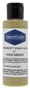 AmeriColor Amerimist Edible Paint and Airbrush Food Color, 4 1/2-Ounce, Gold