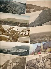 Somerset PORLOCK x23 collection c1900/50s topo PPCs