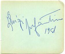 Luigi Infantino signed autograph album page 1950s Italian tenor opera singer