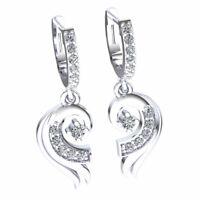 0.33ctw Round Brilliant Cut Diamond Ladies Wing Dangle Earrings 18K Gold