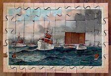 1898 Antique BATTLE OF MANILA Dewey SPANISH AMERICAN WAR / 2 Jigsaw Puzzle Set