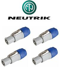 4x Neutrik NAC3FCB Powercon Cable Connector for AC Output Power Con Inline NEW