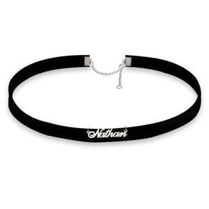 Any Initials Customized Choker Pendant - Personalized Silver Choker Necklace