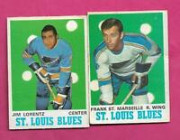 1970-71 OPC BLUES JIM LORENTZ RC + FRANK ST MARSEILLE  CARD (INV# C7631)