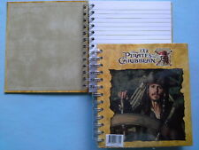 Cahier à Spirales Johnny Depp Pirates of the Caribbean 16X18cm Neuf