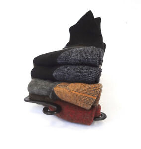 Timberland Men's Socks Comfort CREW 4 Pairs Cotton Blend Assort Colors - New