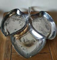 Art Nouveau Silver Plated 3 Section Serving Dish