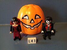 (L41) playmobil citrouille avec couple de vampires spécial Halloween