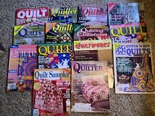 14 Back Issues of Quilting Magazines/. Quilt patterns