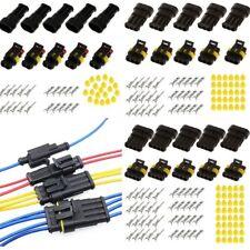 15 KIT 2/3/4 pin IMPERMEABILE ELETTRICO Connettore Cavo Presa per auto moto