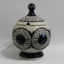 Marzi & Remy Art Deco Kugel Bowle Stoneware Grenzhausen Westerwald Zipfeldeckel