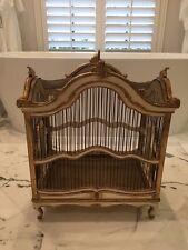 Stunning Antique Gilded Venetian / Painted Italian Bird Cage