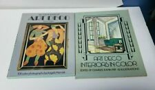 Art Deco 2 Book Lot, All Color Book of Art Deco & Interiors in Color