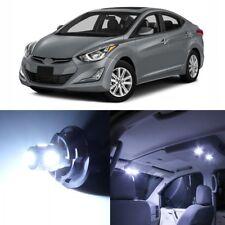 10 x White Interior LED Lights Package For 2011 - 2016 Hyundai Elantra + TOOL