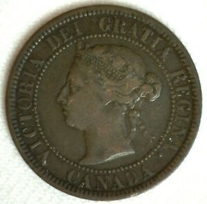 1882 H Canada Bronze Large Cent Coin 1c Canadian Penny You Grade Victoria Ruler