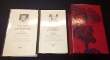 Pléiade Cervantès 2 Tomes avec jaquettes et rhodoids dans son  coffret  2001