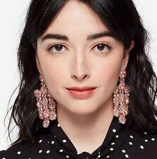 kate spade swarovski crystal statement pink earrings THE BEAD GOES ON chandelier