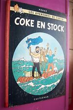Hergé Tintin Coke en stock première édition belge B24 1958 bel état