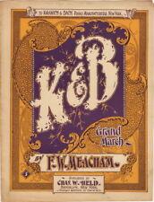 K & B Grand March 1899, vintage sheet music Kranich & Bach Piano Manufacturers