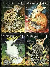 Malaysia 2002 The Tame & The Wild Fauna Set MNH Leopard Cat ,Owl,Cockatoo & Cat