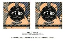 EKO STRINGS OFFERTA n° 2 SET CORDE muta CHITARRA CLASSICA DUE mute  IN NYLON