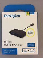 Nero Dynamode Super-Speed USB3.0 4 PORTE Compatto Tasca Hub USB3-HB-4PM