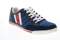 Alpine Swiss Stefan Mens Blue Canvas Lace Up Lifestyle Sneakers Shoes 12