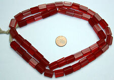 Strang 64 cm rubin roja pentagonal lápiz perlas