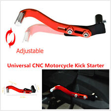 CNC Motorcycle Bike Kick Starter Lever Pedal Gear Lever Aluminum Alloy Red+Black