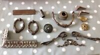 Antique Clock Cast Brass Feet Mounts Decoration Ex Clockmakers Parts Collection