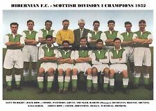 HIBERNIAN F.C.TEAM PRINT 1952 - HIBS - LEAGUE CHAMPIONS