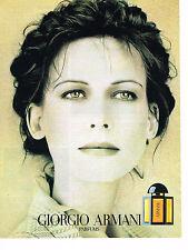 PUBLICITE ADVERTISING 034   1990   PARFUM  GIORGIO ARMANI pour femme