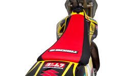 2008-2017 SUZUKI RMZ 450 Black/Red SEAT COVER GRIPPER STYLE BY Enjoy Mfg