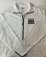 TEAM USA ADULT JACKET 84527 OLYMPICS WHITE POLYESTER FULL ZIP LARGE NEW W/O Tag