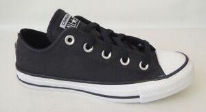 NEU Converse All Star OX Chuck Taylor Jr. 35 Leder Sneaker Schuhe 159614C black