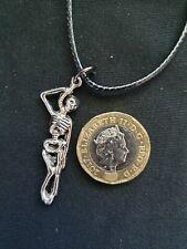 Halloween Hangman Skeleton On Noose Tibetan Silver Key Ring Wiccan Gothic Pagan