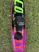 Connelly Concept Trick Waterski with Custom Flo Footbed binding and carrying bag