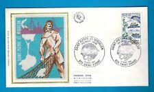 1982 - ENVELOPPE SOIE 1°JOUR**SAINT PIERRE & MIQUELON - TIMBRE...Yt. 2193.