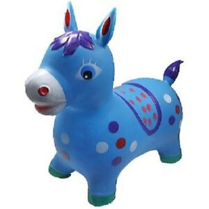 LARGE Blue DONKEY Hopper Ride On Toy Bouncing inflatable BOUNCE ALONG Bouncy