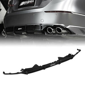 For 2018-2020 Honda Accord AKASAKA Rear Bumper Diffuser Lip Trim Glossy Black NI