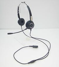 EMS-460 Quick-Disconnect Headset for Plantronics M10 M12 M22 MX10 AP15 DM15E AMP