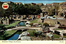 England Postcard ~1970 EASTBOURNE Miniature Village Miniatur-Stadt Postkarte