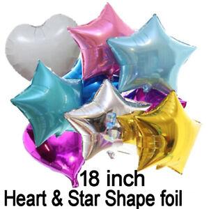 "5x18"" Balloons Star Heart Round Foil Baloons Christmas Helium Air Ballons Balons"