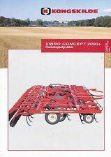 Kongskilde Vibro 2000 Flachstoppelgrubber Prospekt 5/00 Broschüre Grubber