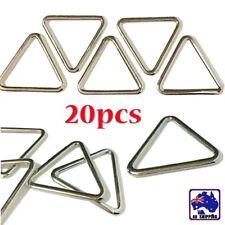 20pcs 26.5 2mm Triangle Buckle Metal Ring Looping Webbing Connector CKBD78326x20