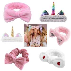 Fluffy Soft bow Headband Hair band accessories Women's Girls head wrap Unicorn